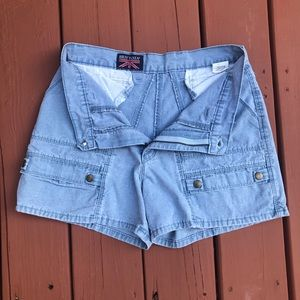 VTG 80s/90s HIGH WAISTED MOM JEANS SHORTS sz 31